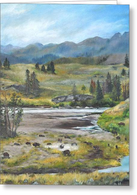Late Summer In Yellowstone Greeting Card