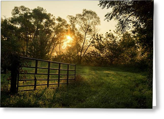 Late Summer Sunrise Greeting Card