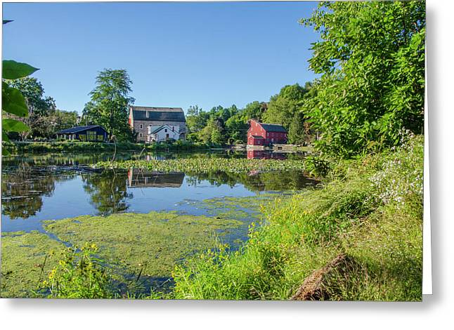 Late Summer - The Red Mill  On The Raritan River - Clinton New J Greeting Card by Bill Cannon