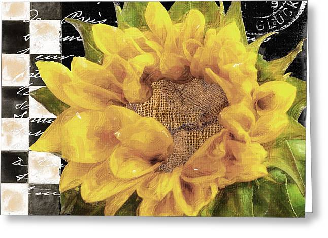 Late Summer Yellow Sunflowers II Greeting Card