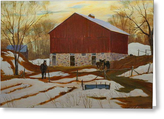 Late Winter At The Farm Greeting Card