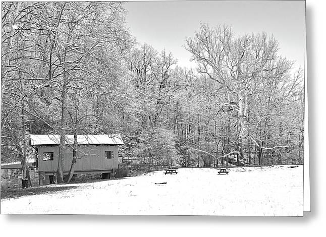 Greeting Card featuring the photograph Late Winter Snowfall In Western Pennsylvania by Digital Photographic Arts