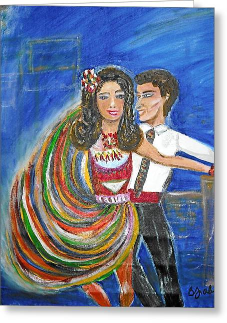 Latin Dancers 11 Greeting Card by BJ Abrams