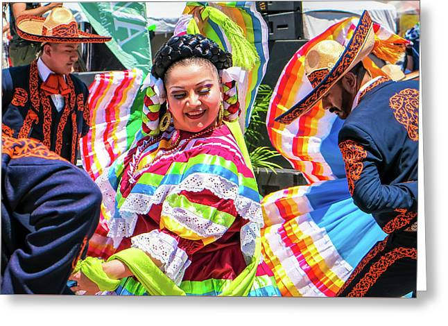 Latino Street Festival Dancers Greeting Card