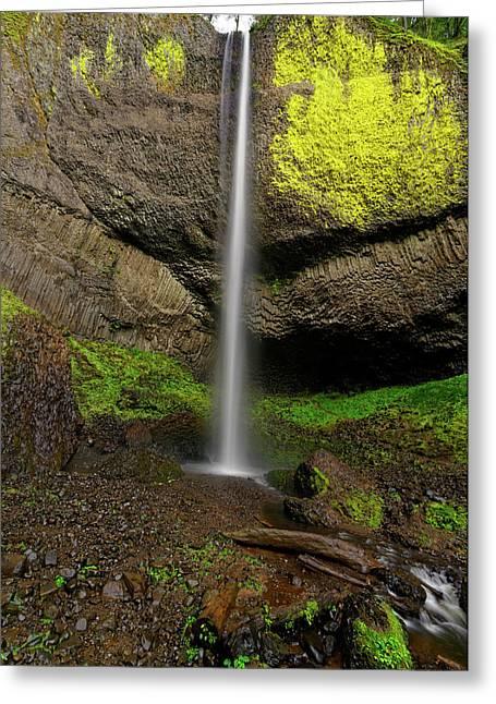 Greeting Card featuring the photograph Latourell Falls by Jonathan Davison