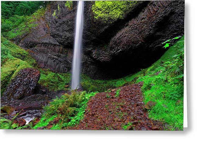 Greeting Card featuring the photograph Latourell Falls Oregon by Jonathan Davison
