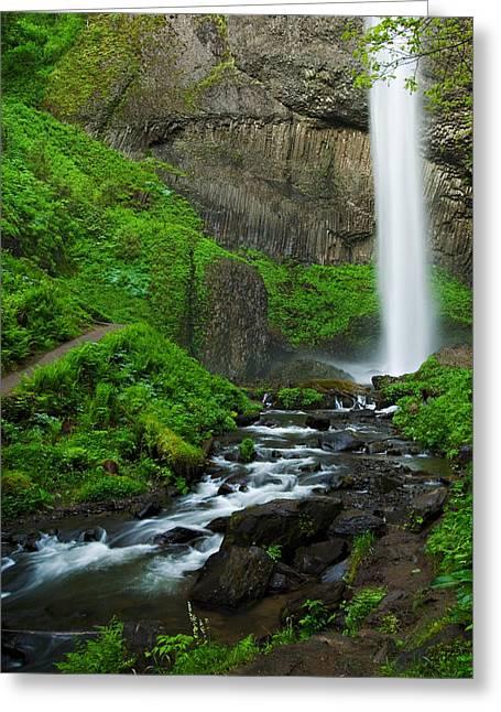 Latourell Falls Oregon Greeting Card