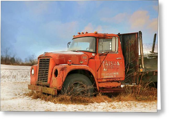 Greeting Card featuring the photograph Latsha Lumber Truck by Lori Deiter