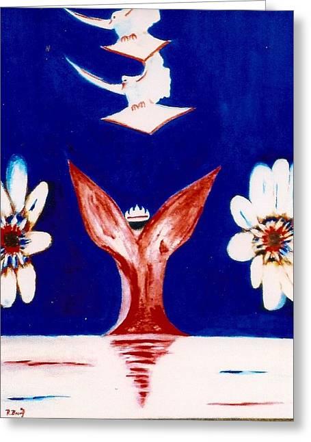 Latter Rain Allegory Greeting Card