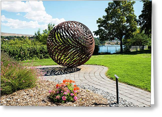 Latticed Iron Ball With Shadow Greeting Card