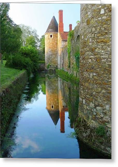 L'aubraie Tower Reflection Greeting Card