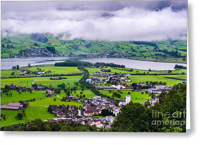 Lauerzersee During Storm - Schwyz Canton Greeting Card by Gary Whitton