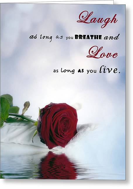 Laugh And Love Greeting Card by Joana Kruse