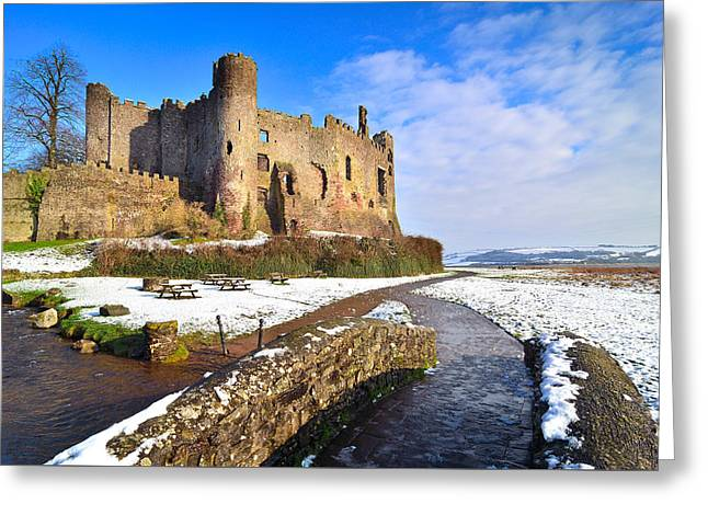 Laugharne Castle 2 Greeting Card