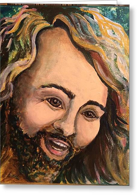 Laughing Jesus Greeting Card