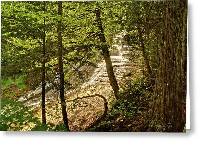 Chatham Greeting Cards - Laughing Whitefish Falls 2 Greeting Card by Michael Peychich