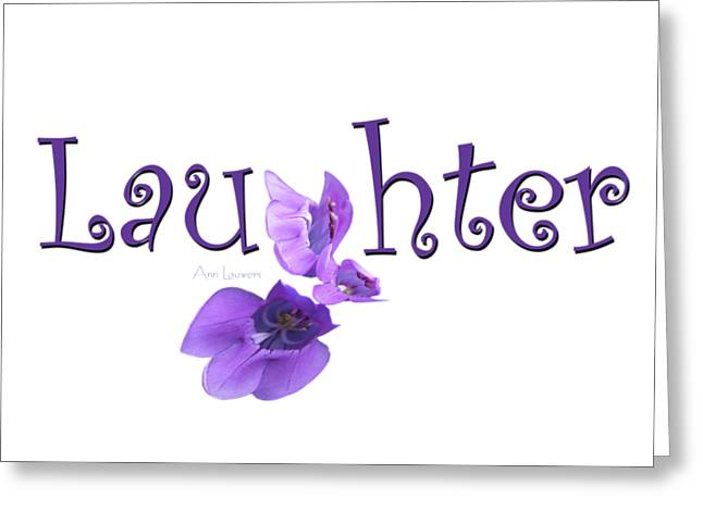 Laughter Shirt Greeting Card