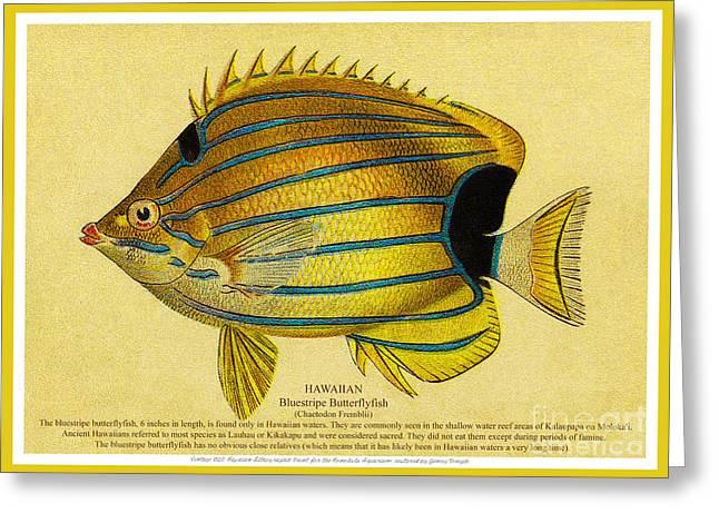 Lauhau - Bluestripe Butterflyfish Greeting Card