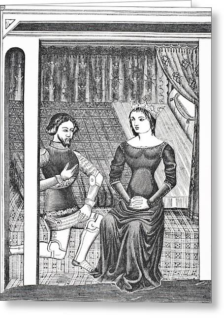 Launcelot And Guinivere. After A Greeting Card by Vintage Design Pics
