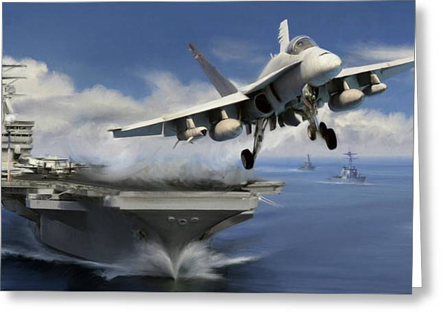 Launch Greeting Card by Dale Jackson