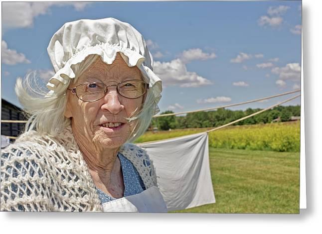 Laundress - Fort Atkinson - Nebraska Greeting Card by Nikolyn McDonald