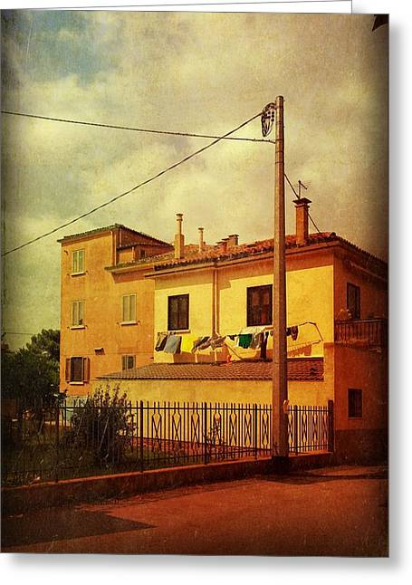 Greeting Card featuring the photograph Laundry Day by Anne Kotan