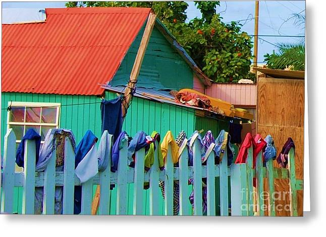 Laundry Day Greeting Card by Debbi Granruth
