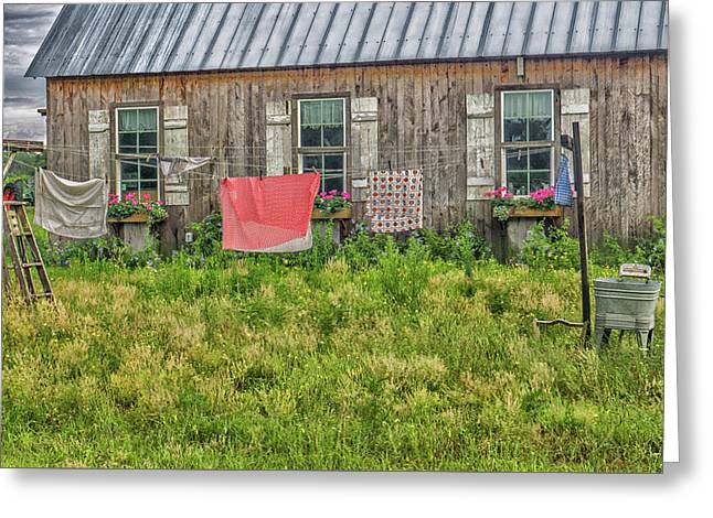 Laundry Greeting Card by Dennis Dugan