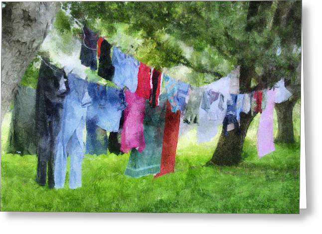 Laundry Line Greeting Card