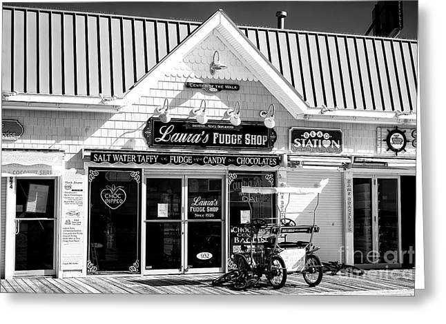Greeting Card featuring the photograph Laura's Fudge Shop by John Rizzuto