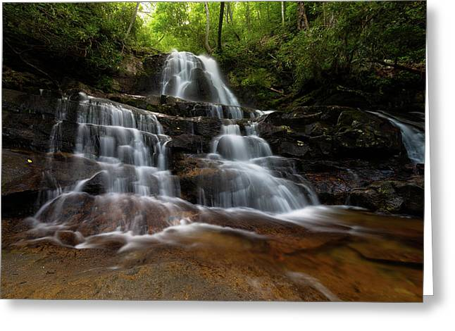 Laurel Falls Great Smoky Mountains Tennessee Greeting Card