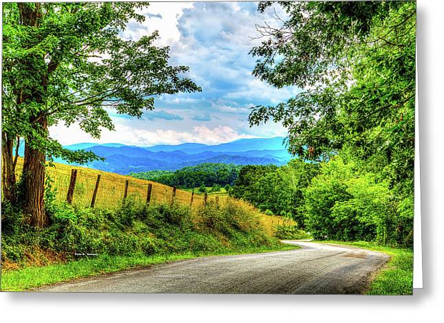 Laurel Hill View Greeting Card by Dale R Carlson