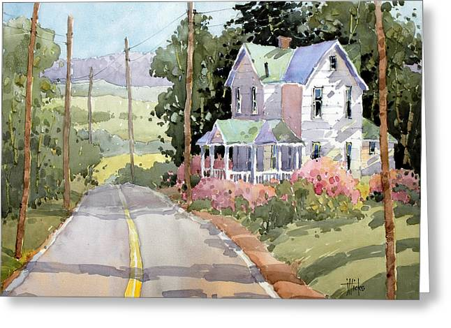Laurel Mountain Farm Greeting Card by Joyce Hicks