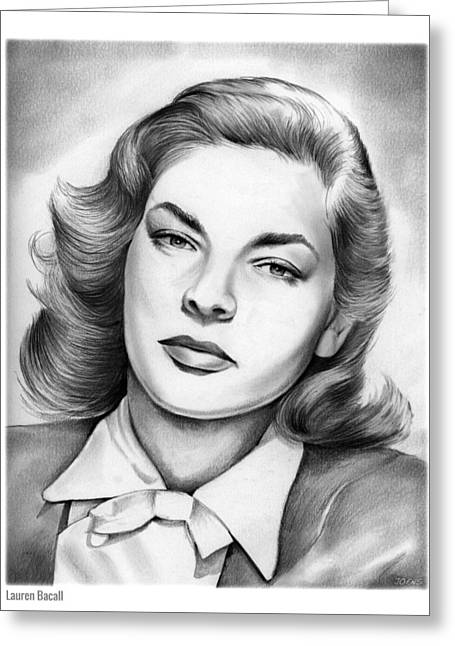Lauren Bacall Greeting Card by Greg Joens