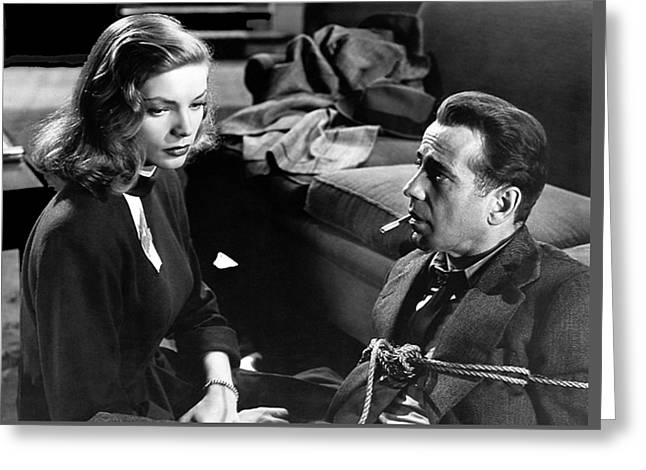 Lauren Bacall Humphrey Bogart Film Noir Classic The Big Sleep 1 1945-2015 Greeting Card