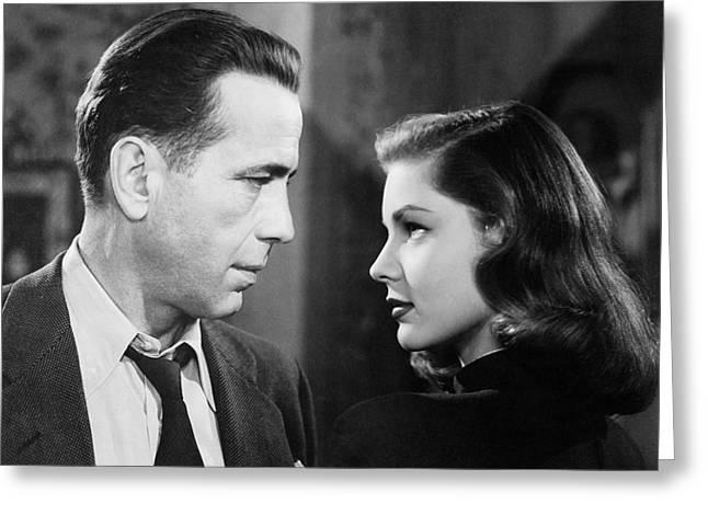 Lauren Bacall Humphrey Bogart Film Noir Classic The Big Sleep 2 1945-2015 Greeting Card