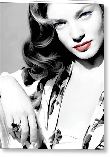 Lauren Bacall Large Size Portrait 2 Greeting Card