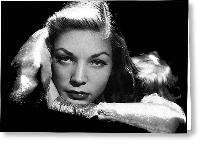 Lauren Bacall Publicity Photo Circa 1945-2015 Greeting Card