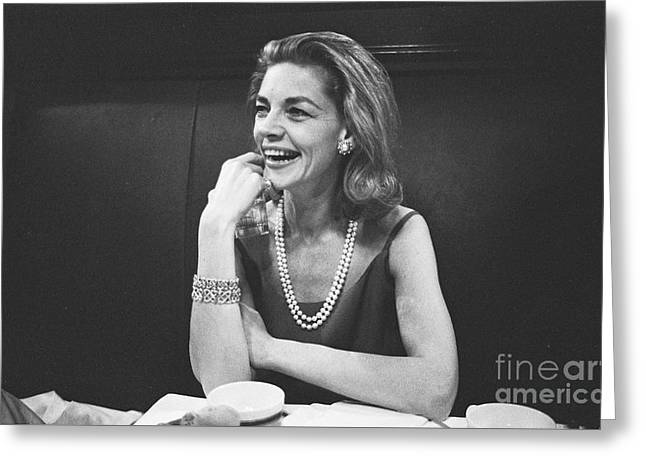 Lauren Bacall Greeting Card by The Harrington Collection