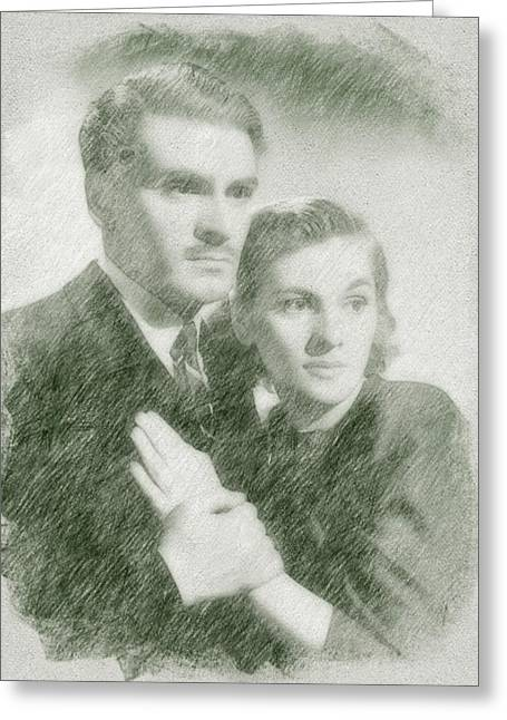 Laurence Olivier And Joan Fontaine Greeting Card