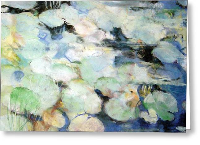Lauren's Lillies Greeting Card by Anita Stoll