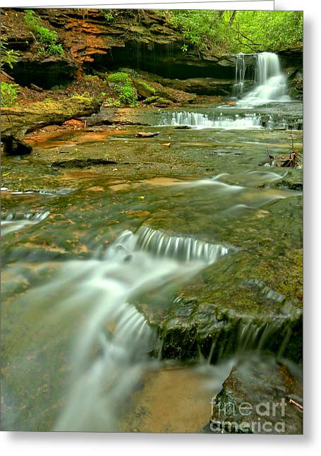 Laurl Highlands Waterfall Gorge Greeting Card by Adam Jewell