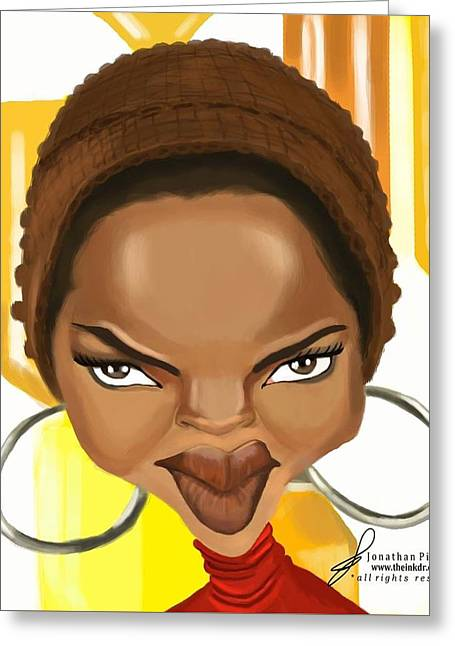 Lauryn Hill Caricature Greeting Card