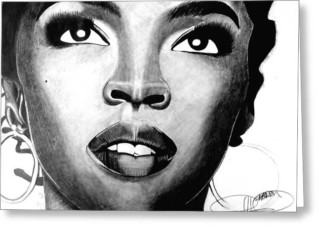 Lauryn Hill Drawing Greeting Card