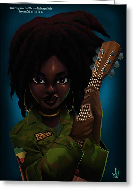 Lauryn Hill Greeting Card