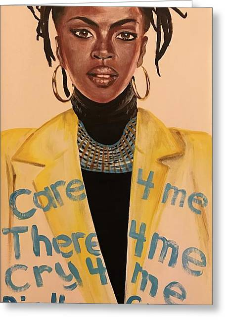 Lauryn Hill's Ex-factor Greeting Card
