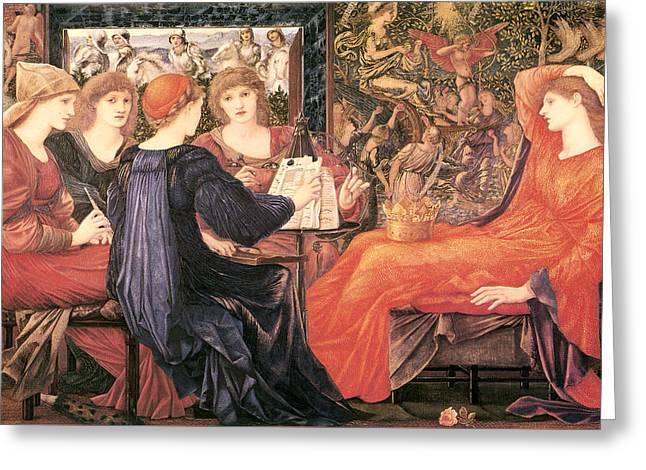 Laus Veneris Greeting Card by Sir Edward Burne Jones