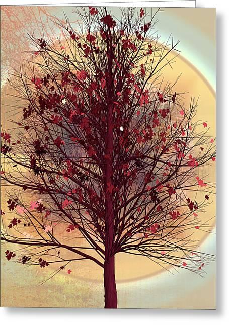 L'automne Greeting Card by Debra and Dave Vanderlaan