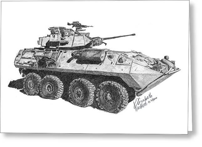 Greeting Card featuring the painting Lav-25 by Betsy Hackett