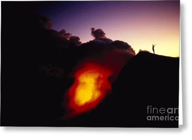 Lava At Dawn Greeting Card by Ron Dahlquist - Printscapes